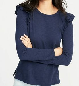 NWT Old Navy | Ruffle trim top